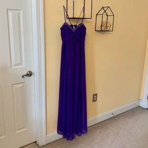 David's Bridal Purple Dress!